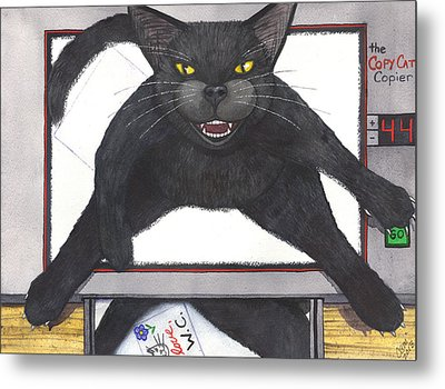 Copy Cat Metal Print by Catherine G McElroy