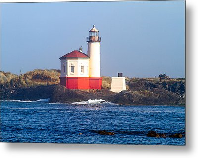 Metal Print featuring the photograph Coquille Lighthouse by Dennis Bucklin