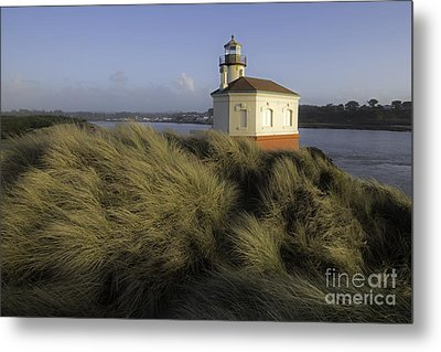 Coquille River Light House Metal Print by Tim Moore