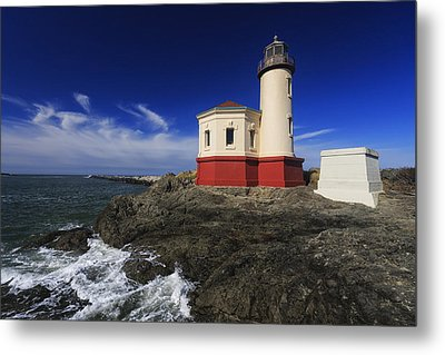 Coquille River Lighthouse 3 Metal Print by Mark Kiver
