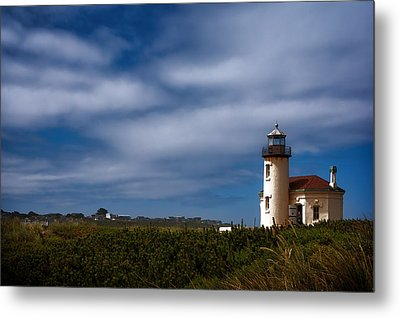 Coquille River Lighthouse Metal Print by Joan Carroll