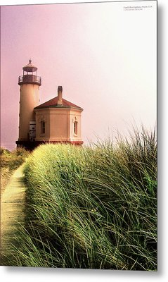 Coquille River Lighthouse Oregon Metal Print by Rafael Escalios