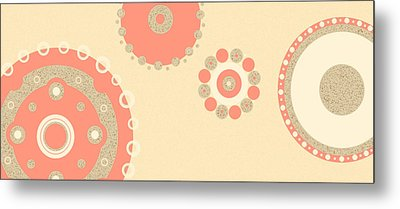 Metal Print featuring the digital art Coral And Cork by Kjirsten Collier