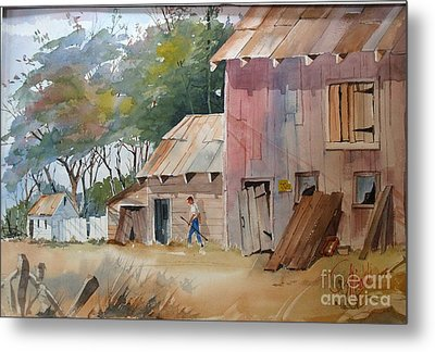 Coral Road Farm Metal Print