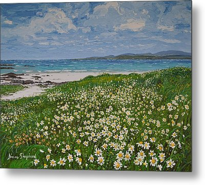 Coral Strand On A Windy Day Connemara Metal Print