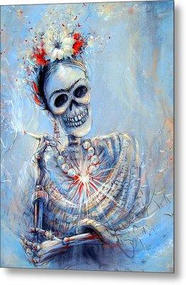 Corazon De Frida Metal Print by Heather Calderon