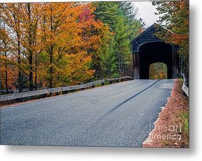 Corbin Covered Bridge New Hampshire Metal Print by Edward Fielding