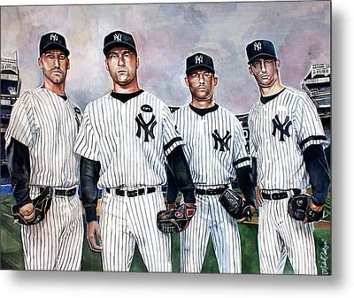Core 4 Yankees  Metal Print by Michael  Pattison