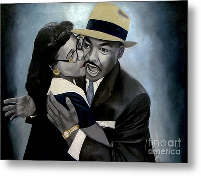 Coretta And Martin Metal Print by Chelle Brantley