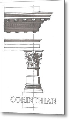 Corinithian Order Metal Print by Calvin Durham