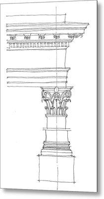 Corinthian Order Metal Print by Calvin Durham