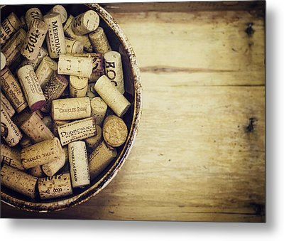 Cork Collection Metal Print by Heather Applegate