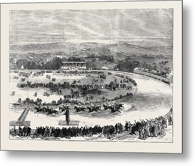 Cork Park Races The Grand National Steeplechase 1869 Metal Print by English School
