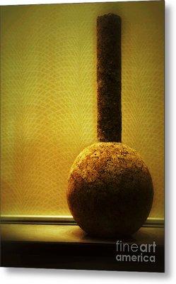 Cork Vase Metal Print by Darla Wood