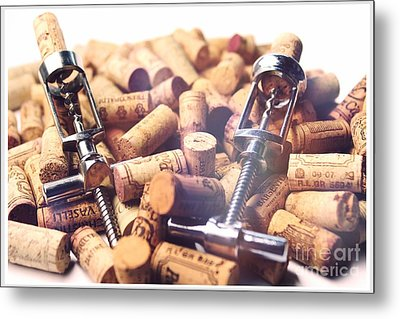 Corks And Corkscrews  Metal Print by Stefano Senise