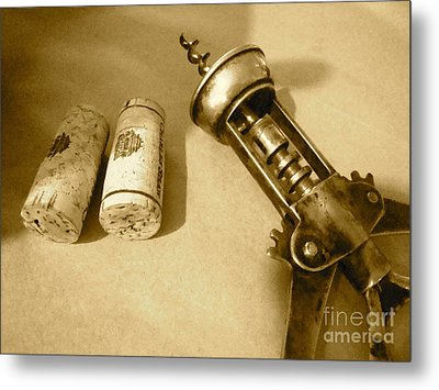 Corkscrew Duet Metal Print by Cathy Dee Janes