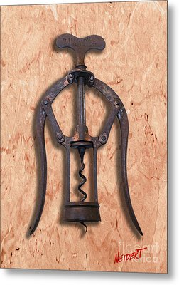 Heeley A1 Patent Double Lever Corkscrew Painting Metal Print