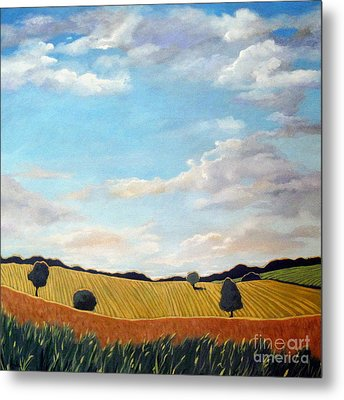 Corn And Wheat - Landscape Metal Print