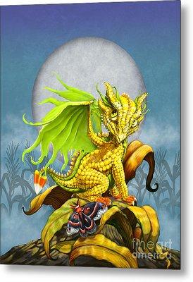 Corn Dragon Metal Print