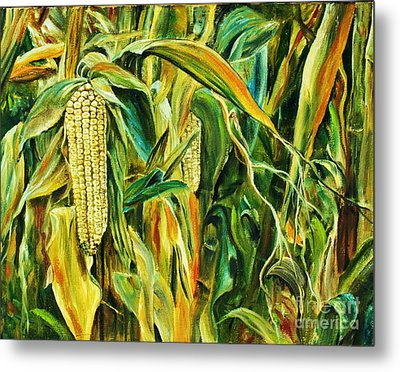Spirit Of The Corn Metal Print by Anna-maria Dickinson