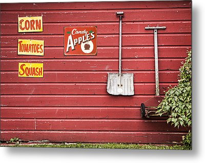 Corn. Tomatoes. Squash - Americana - Old Farm Signs Metal Print by Gary Heller