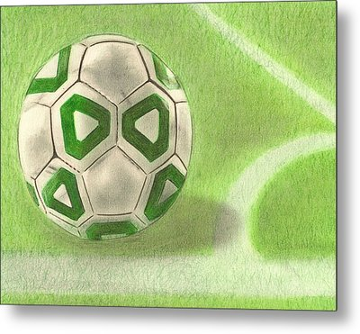 Corner Kick Metal Print by Troy Levesque