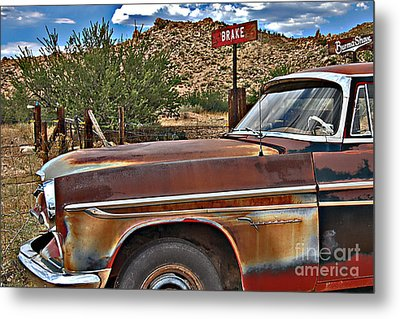 Metal Print featuring the photograph Corner Of Brake And Burmashave by Lee Craig