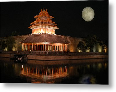 Metal Print featuring the photograph Corner Of Forbidden City by Yue Wang