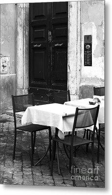Corner Table Metal Print by John Rizzuto