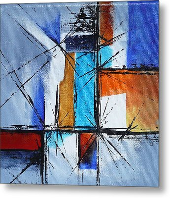 Metal Print featuring the painting Corners by Jo Appleby