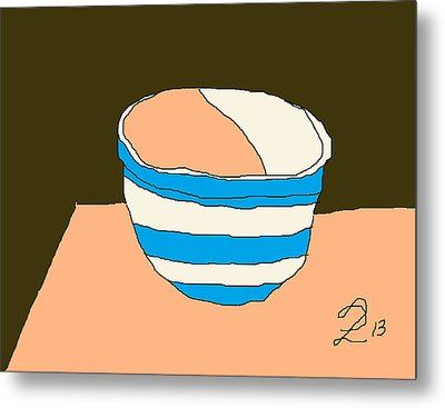 Cornish Bowl Metal Print by Anita Dale Livaditis