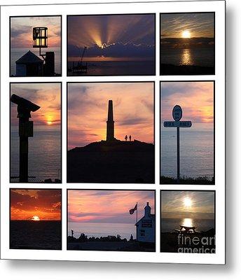 Cornish Sunsets Metal Print