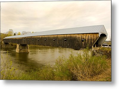 Cornish - Windsor Covered Bridge Metal Print
