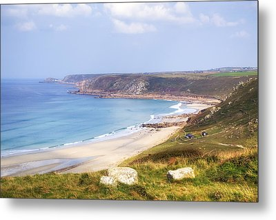 Cornwall - Sennen Cove Metal Print
