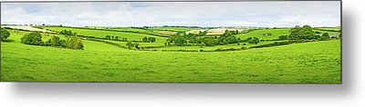 Cornwall Panorama Color Metal Print