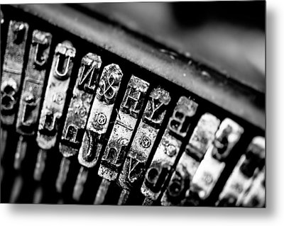 Corona Four Typewriter Detail Metal Print