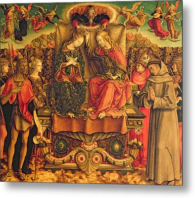 Coronation Of The Virgin Metal Print by Carlo Crivelli