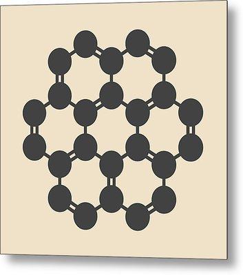 Coronene Hydrocarbon Molecule Metal Print by Molekuul