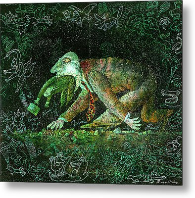 Corporate Predator Metal Print by Leon Zernitsky