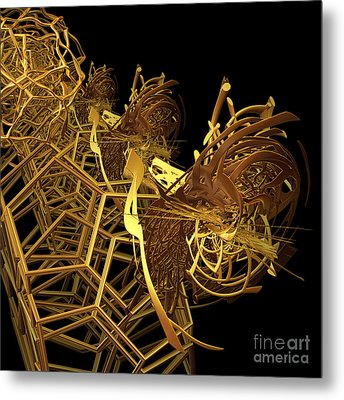 Corporate Ladder By Jammer Metal Print by First Star Art