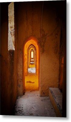 Corridor In The Real Alcazar Of Seville Metal Print