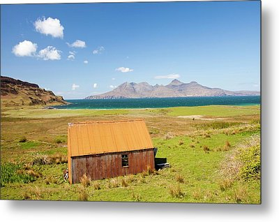 Corrugated Iron Barn At Cleadale Metal Print by Ashley Cooper