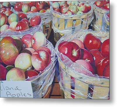 Cortland Apples Metal Print