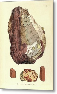 Corundum Mineral Metal Print by Royal Institution Of Great Britain