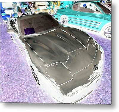 Metal Print featuring the photograph Corvette 2003 50th Anniv. Edition by John Schneider
