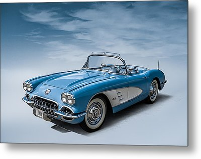 Corvette Blues Metal Print by Douglas Pittman