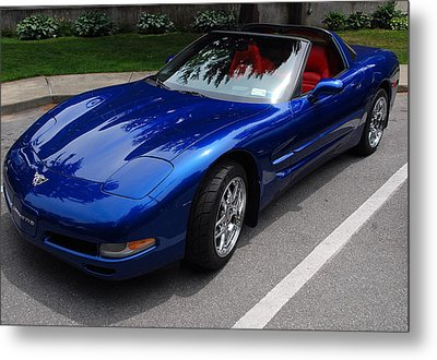 Corvette By Chevrolet At Fifty Metal Print