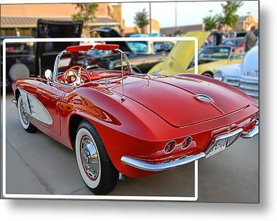 Metal Print featuring the photograph Corvette Cool by Dyle   Warren