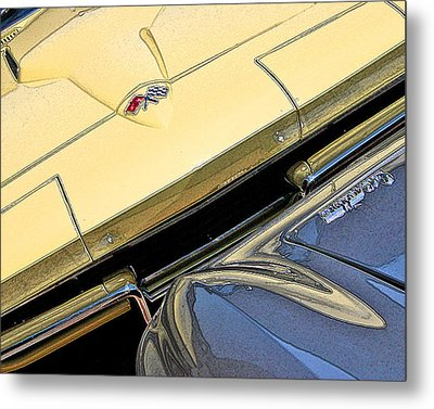 Metal Print featuring the photograph Corvette Edges by Christopher McKenzie