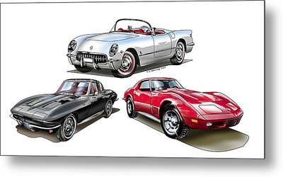 Corvette Generation Metal Print